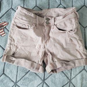 Pale pink SO midi shorts